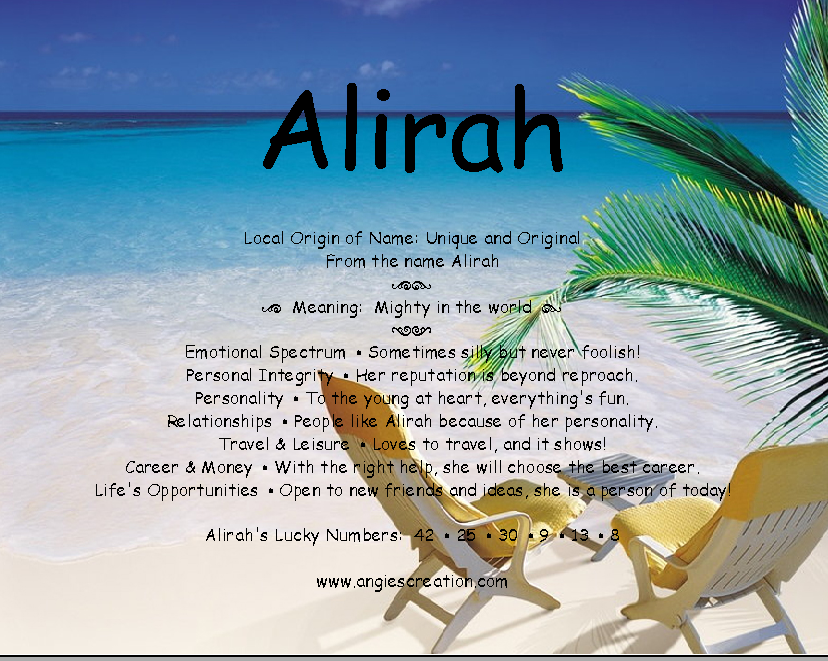 The meaning of the name -Alirah
