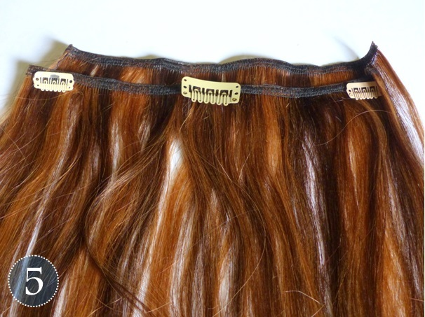 Beautiesmoothie diy clip in extensions lay out the clips on your extensions this way you get an idea of where to sew them and how many space you should leave in between the clips pmusecretfo Gallery