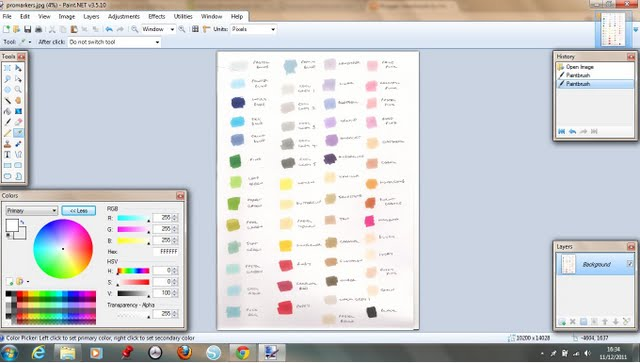 Handmade by Helen J: Working out RGB colour codes using Paint.NET