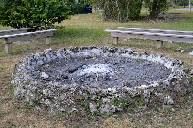 burned out fire pit