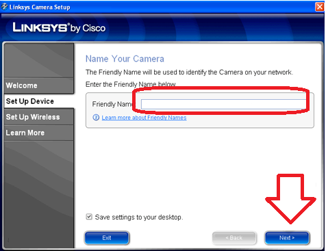 name your camera to monitor