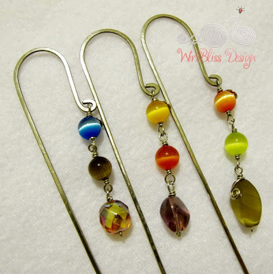 Wire bookmarks by Wirebliss for letter A, Y and R