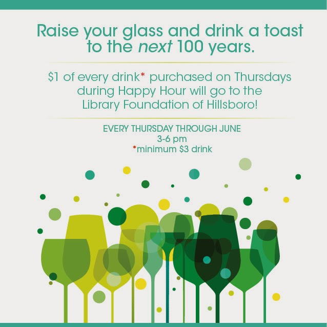 Join Us For Thursday Happy Hour and Support the Library Foundation of Hillsboro