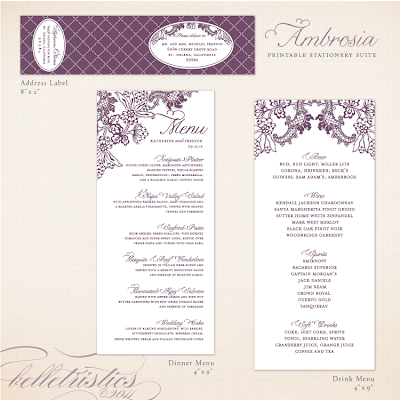 vintage vineyard winery themed printable wedding stationery