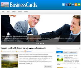BusinessCards Blogger Template