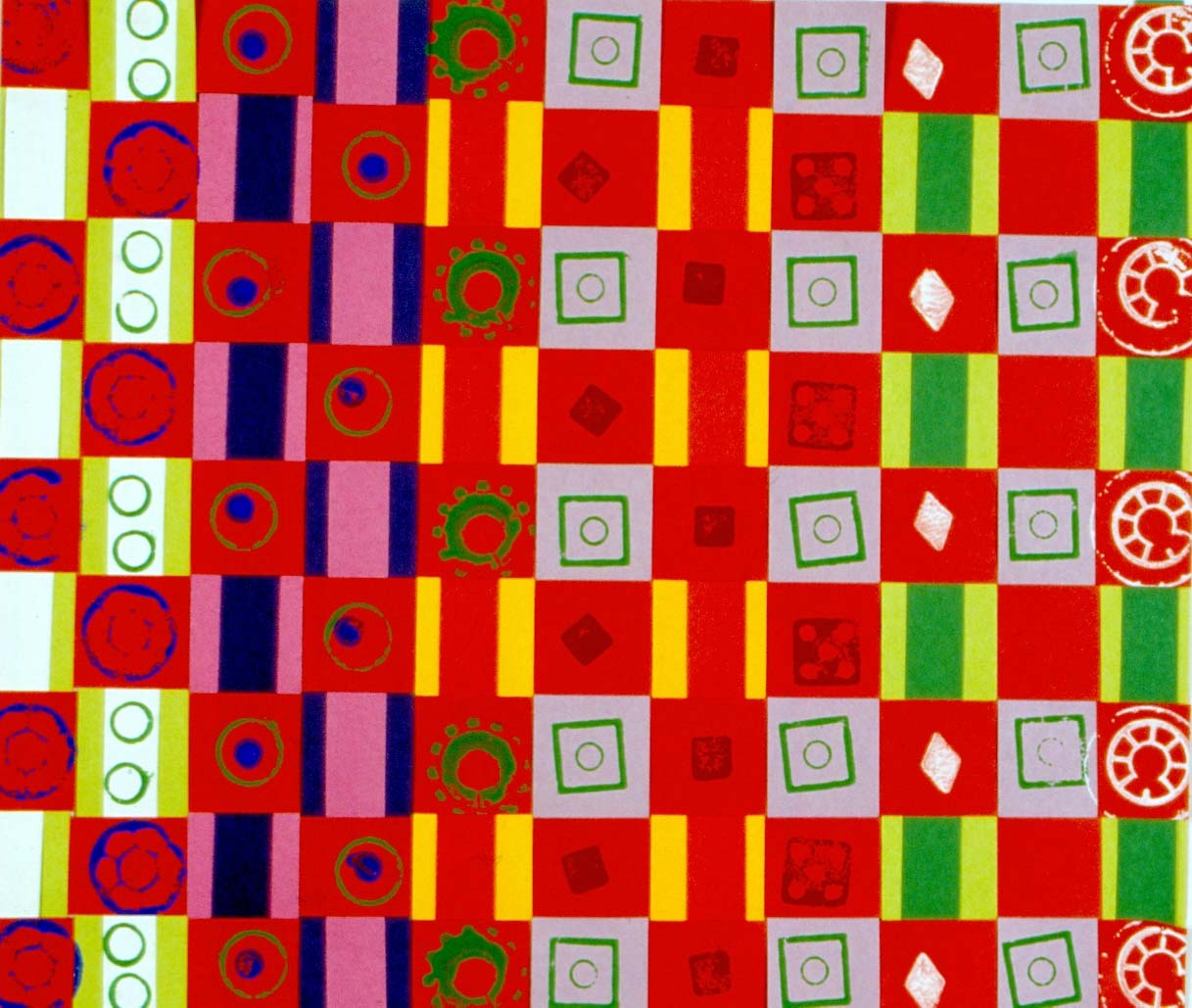 Art for Small Hands: Printing - Patterns on Weaving
