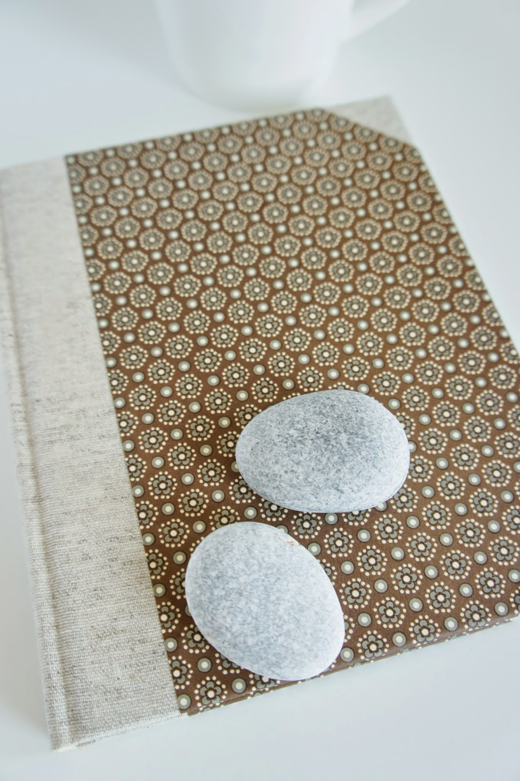 New journal fabric backing paper cover
