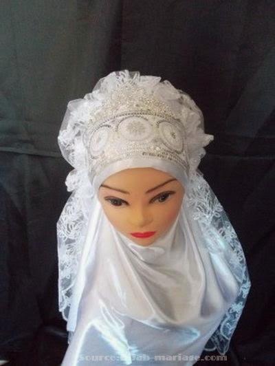 Accessoire pour hijab mariée