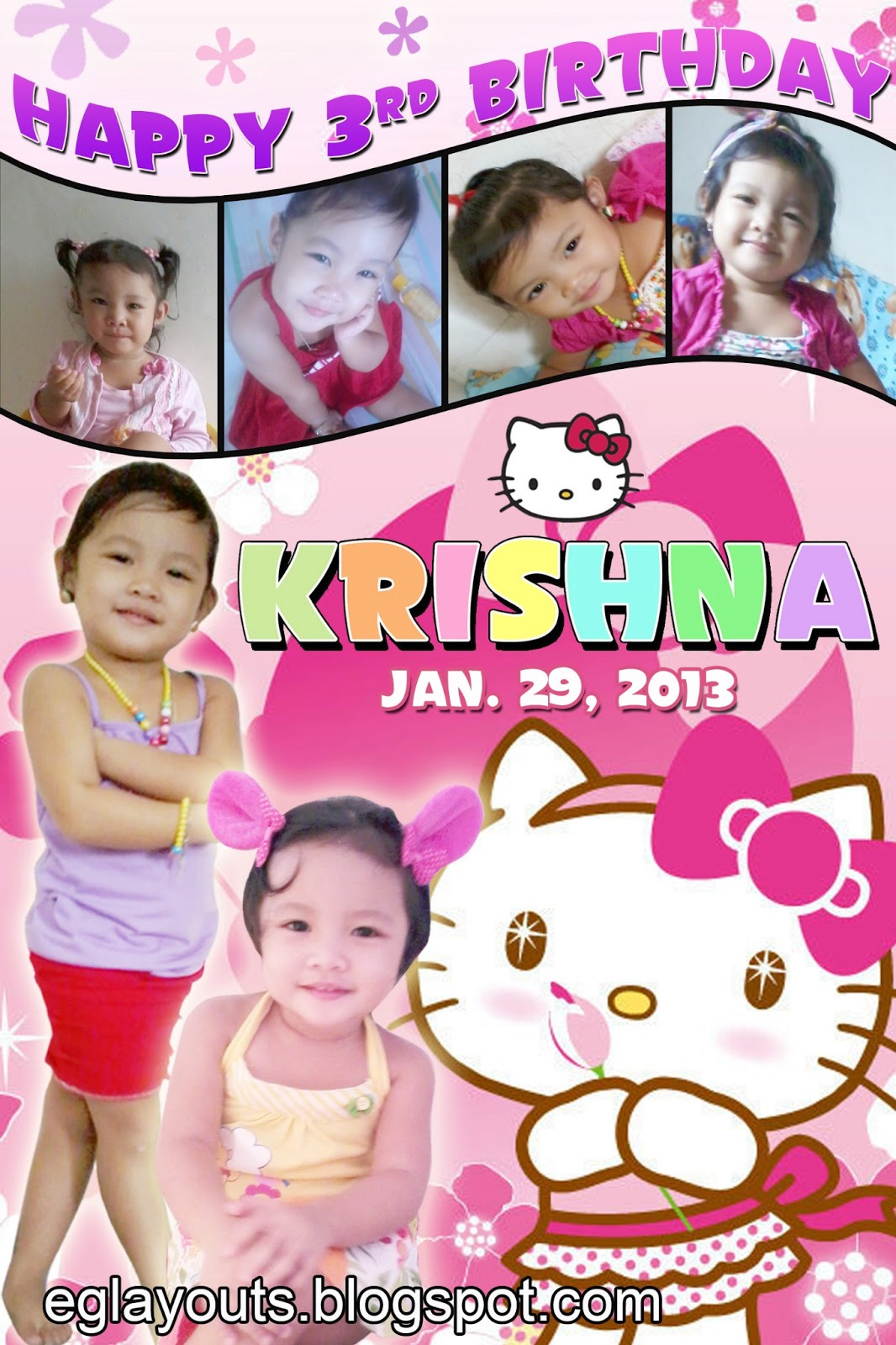 eg u0026 39 s layout world  khrisna birthda hello kitty theme