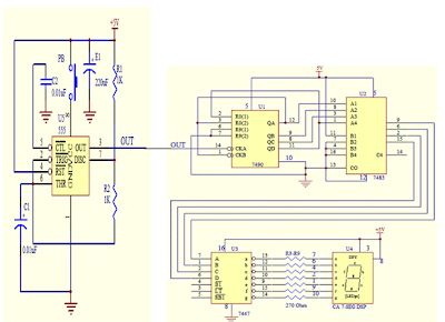 Digital Dice Circuit diagram