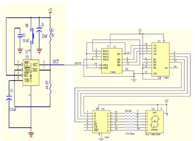 Digital Dice Circuit diagram