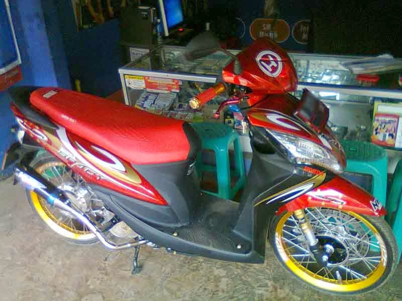 Modifikasi Honda Spacy Merah