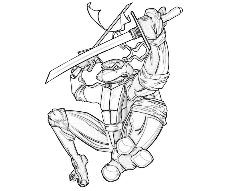 Ninja turtle head coloring page
