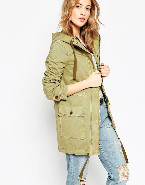 pale khaki parka, asos light green parka,