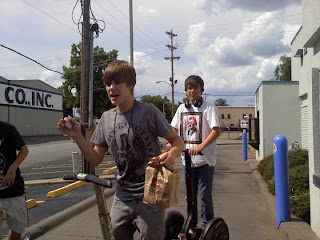 justin bieber burger king on a segway