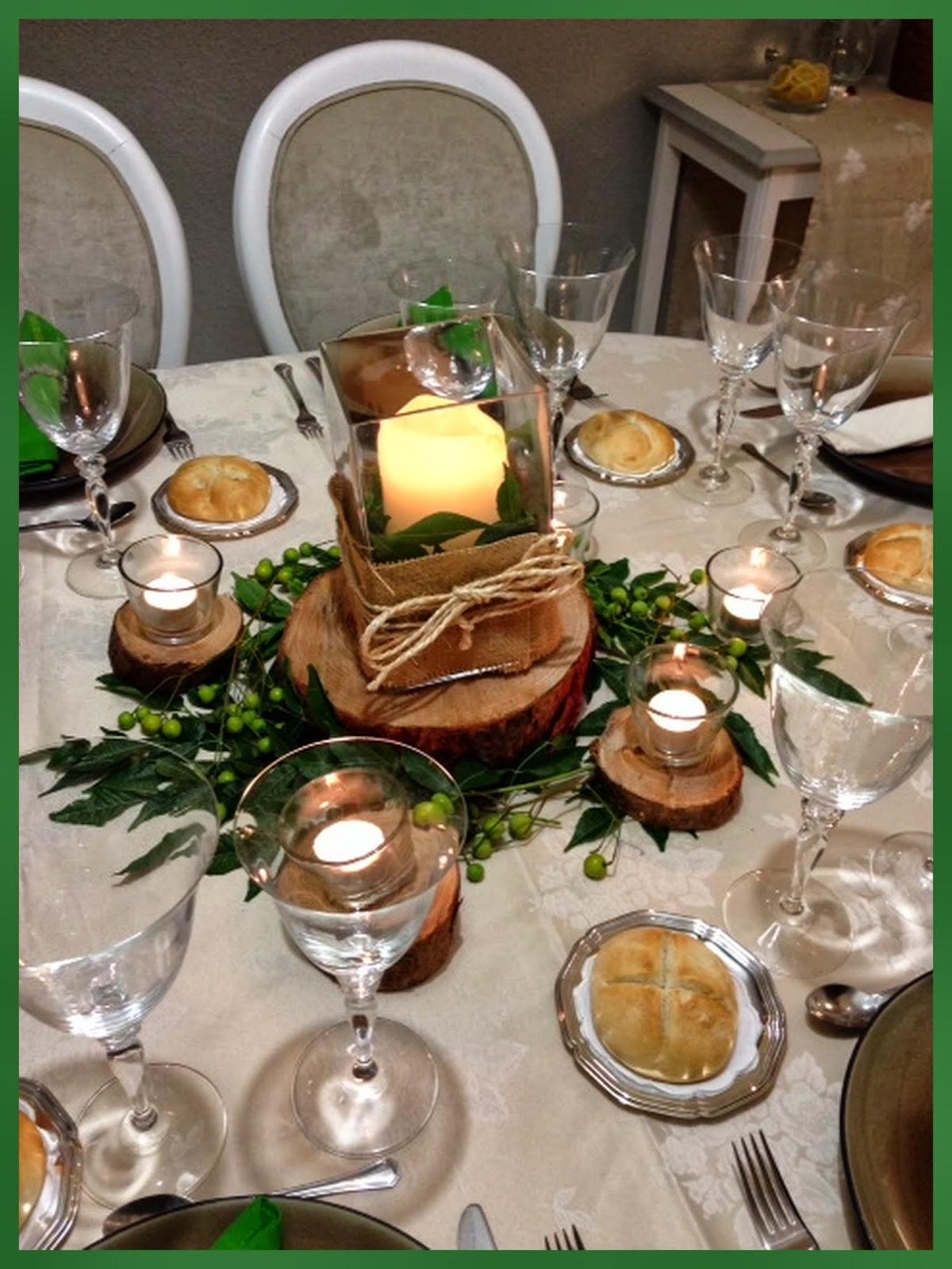 Tarde de hadas centro de mesa con troncos - Centro de mesa rustico ...