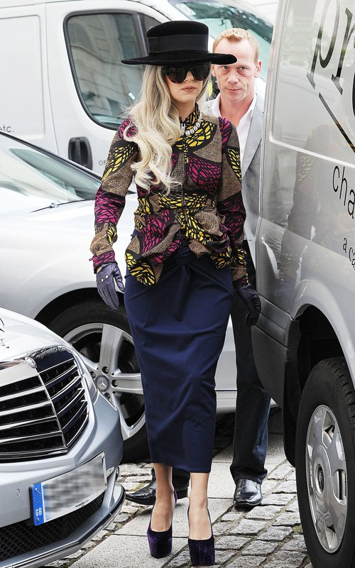 1x1.trans Fab or Drab: Lady Gaga in African Print Top