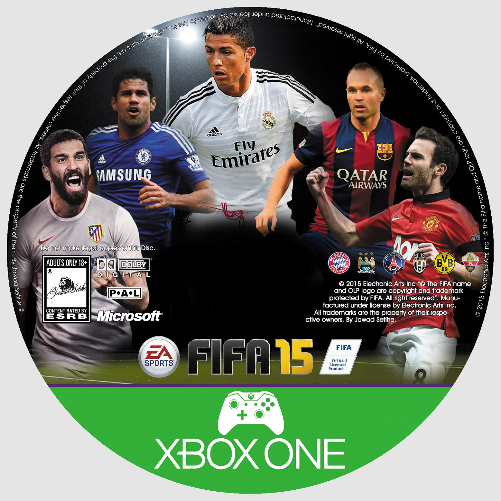 Label Fifa 15 Xbox One