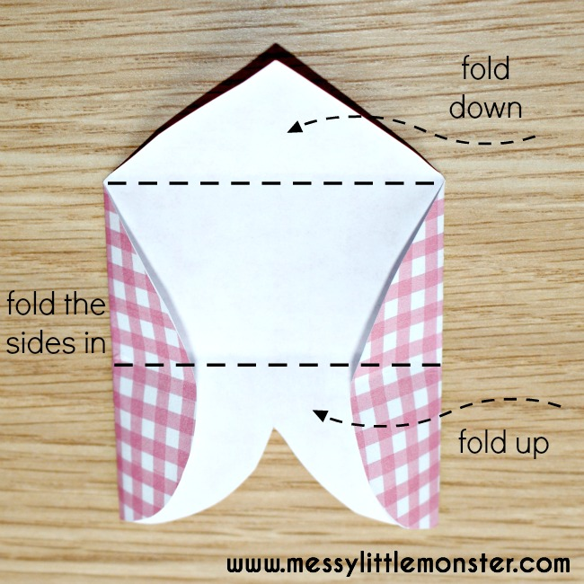 how to make standing up letter a in origami