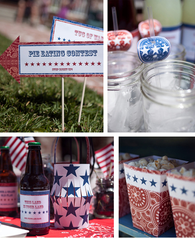 Paper & Cake 4th of July party ideas