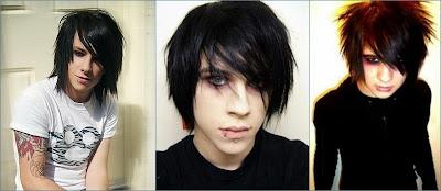 contoh gaya rambut emo pria