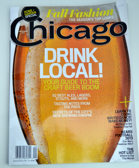 An issue of Chicago magazine in your gift basket adds an interesting read for your friend.
