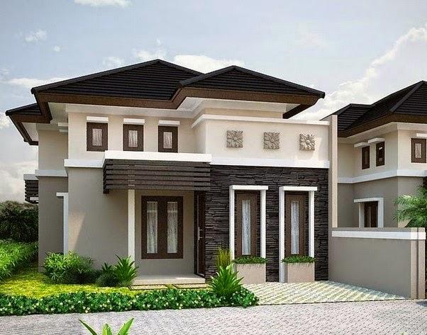 menentukan warna tampak depan rumah minimalis arsitek