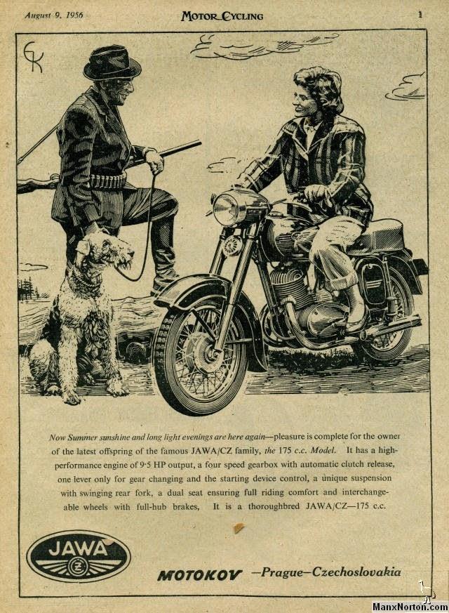 Reklama Jawy 175 z '56