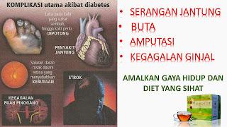 kompilasi utama akibat diabetis