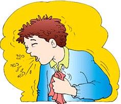Dibujo de niño con tos o niño toceando