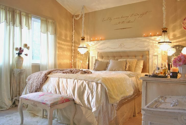 Shabby in love shabby bedroom in white Modern chic master bedroom