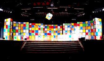 Scenografia Cubo di Rubik
