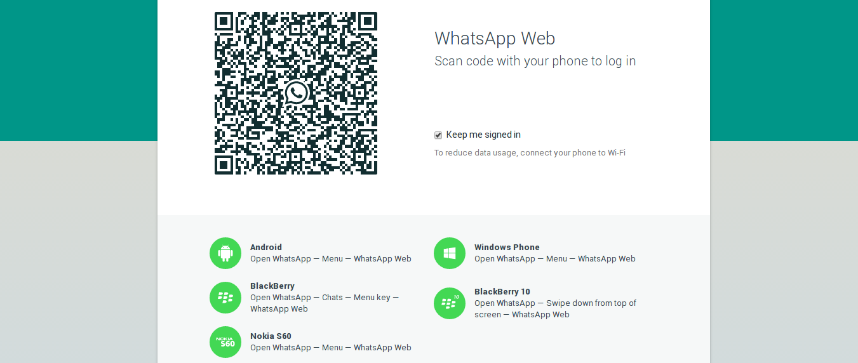 pagina web del client web di whatsapp