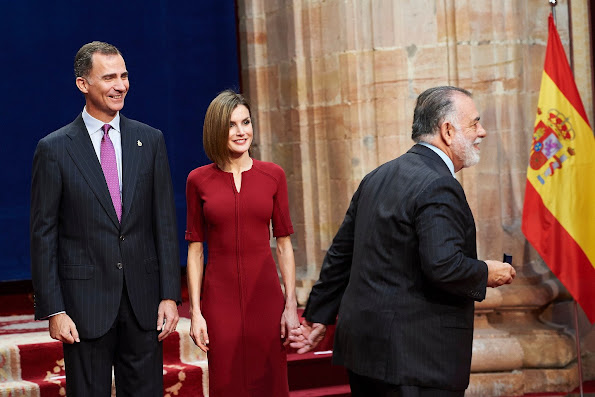 Princess of Asturias Awards 2015 - 2nd Day - King Felipe VI of Spain and Queen Letizia of Spain attended an audience with Princesa de Asturias Awards 2015