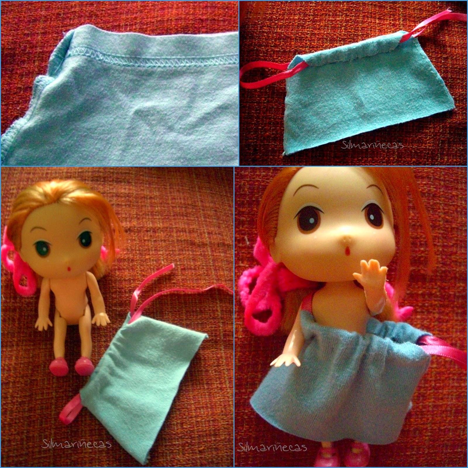 vestido fácil para muñecas