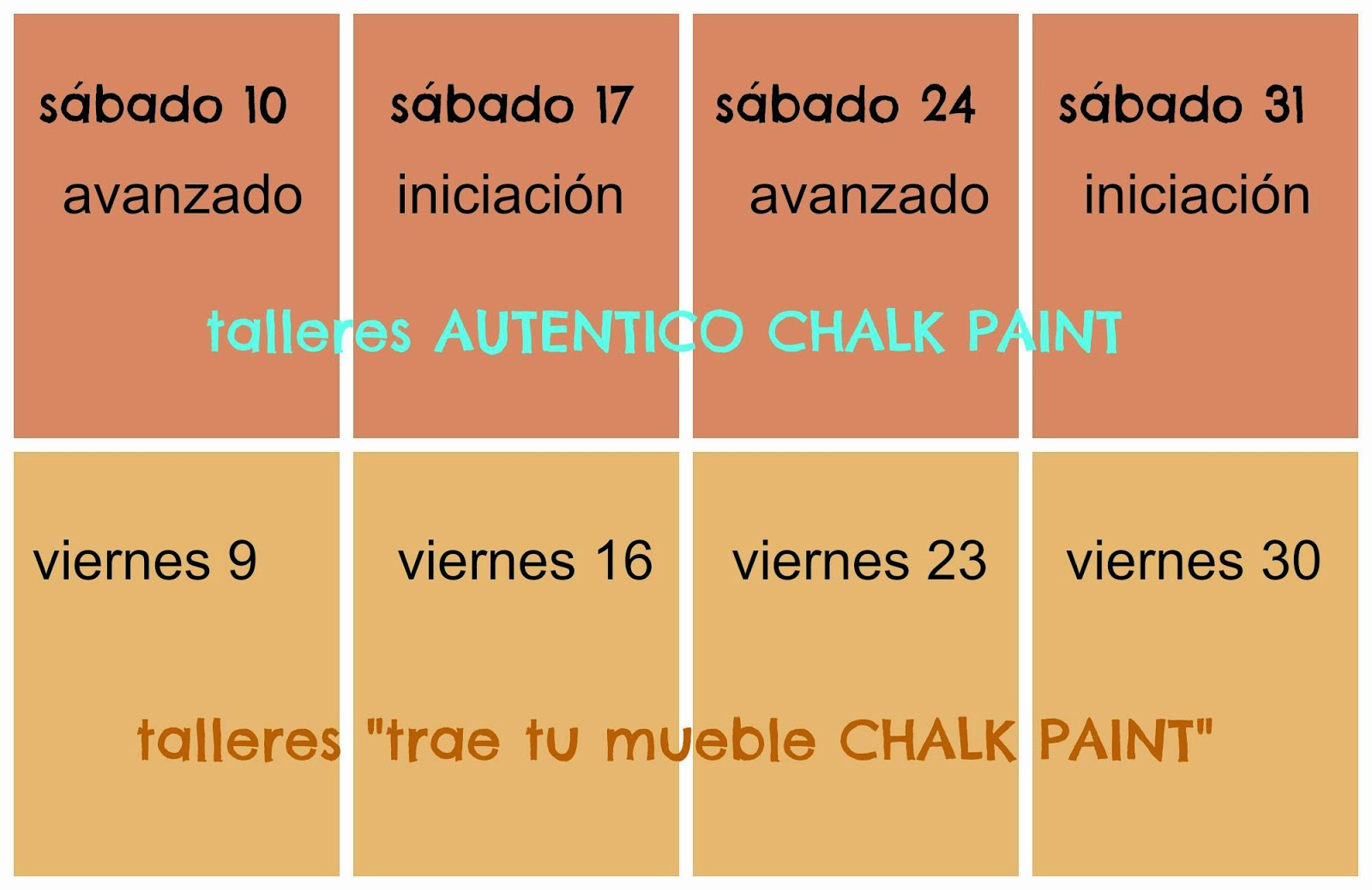 Talleres chalk paint madrid por tintura