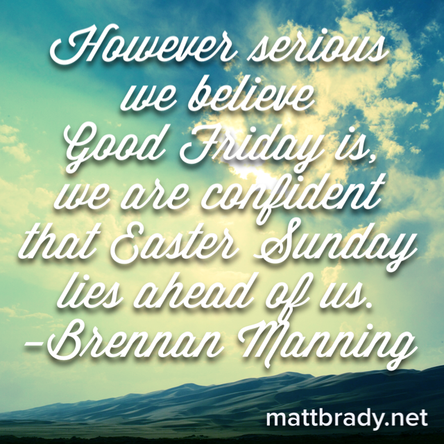 Brennan Manning Easter Quote