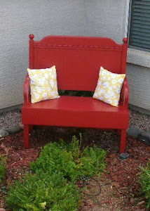 Adorable Red Bench  *SOLD*