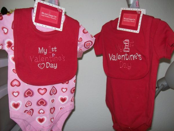 Day outfit onesie creeper bib set my first valentines day baby clothes