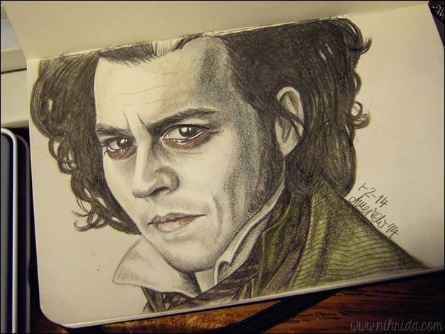 Sweeney Todd aka Johnny Depp Portrait