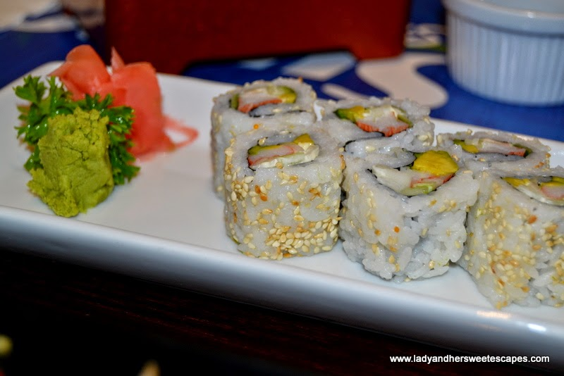 Sumo Sushi and Bento's california maki