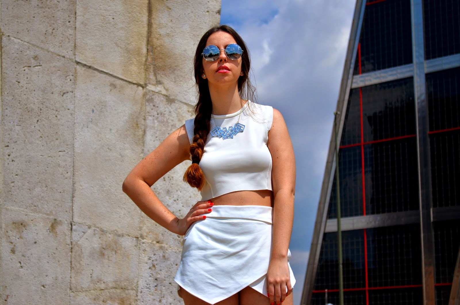 hey vicky hey, victoria suarez, blogger, total look, total look white, blanco, fashion