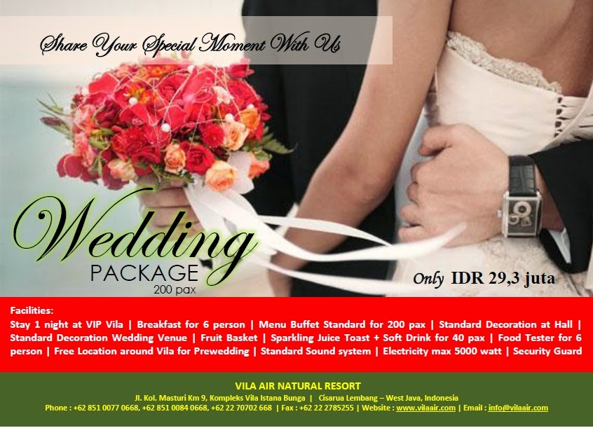 Vila air natural resort lembang bandung wedding package wedding package junglespirit Choice Image