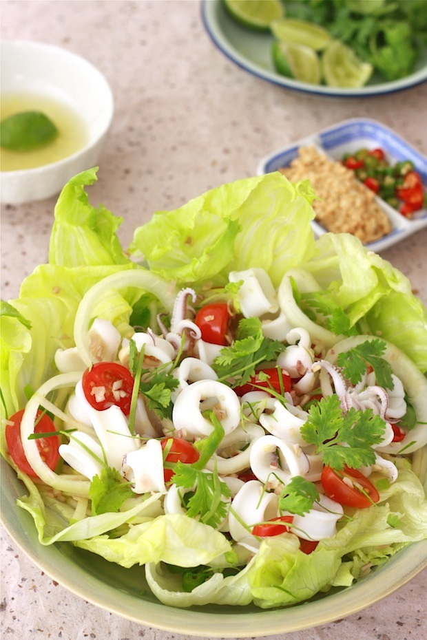 thai style salad with seafood recipe