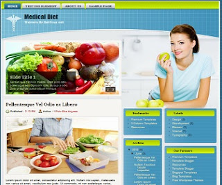 Medical Diet Blogger Template