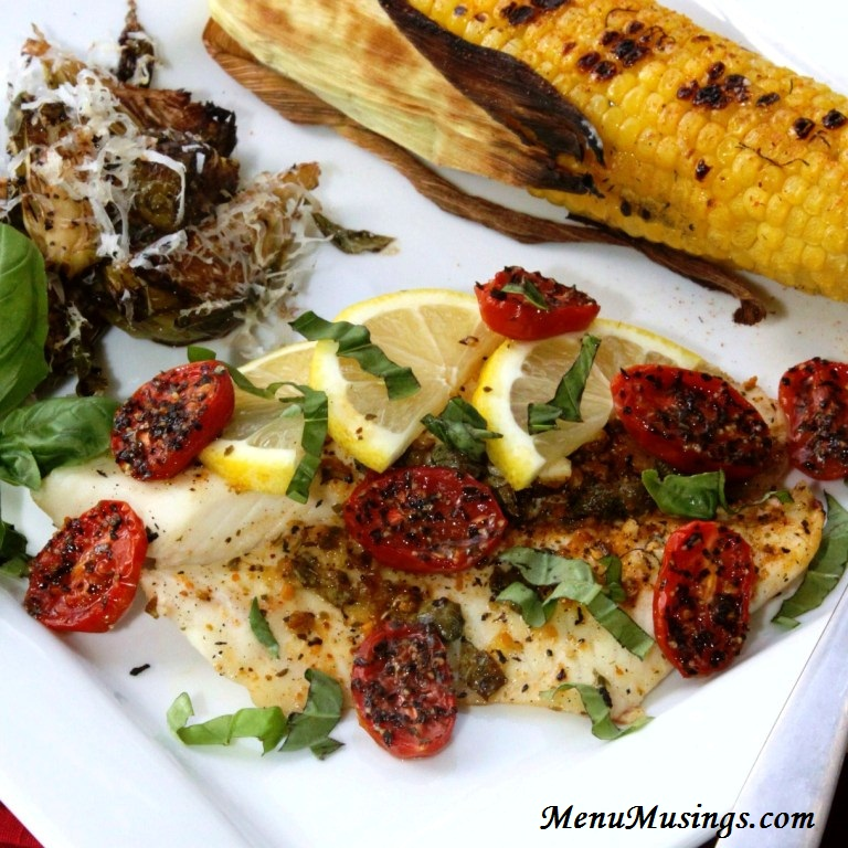 ... of a Modern American Mom: Grilled Tilapia with Lemon Basil Vinaigrette