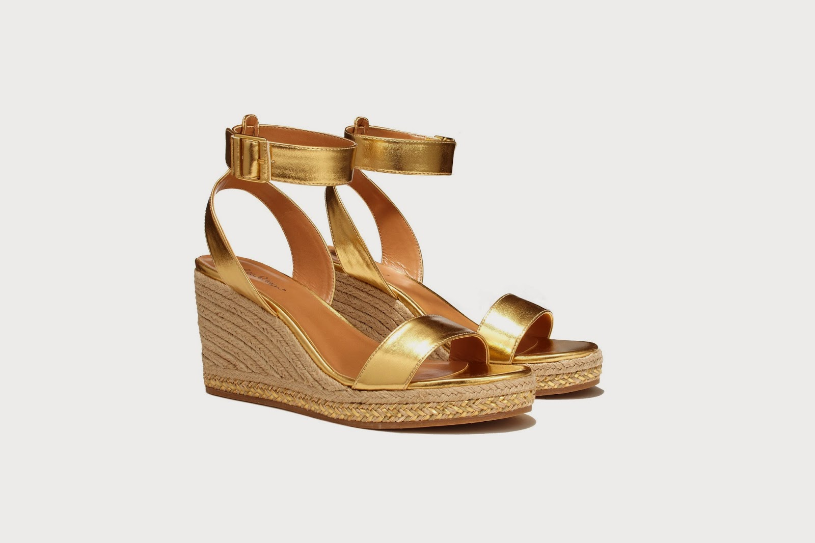 Lilly Pulitzer for Target Gold Wedge Shoes