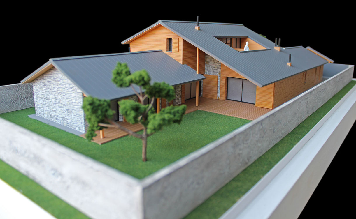 Maquetas atrium maqueta de vivienda unifamiliar for Casa minimalista maqueta