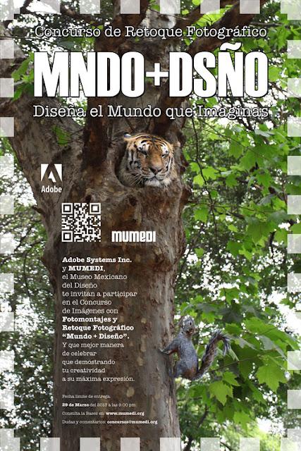 """Concurso de Retoque Fotográfico """"MNDO+DSÑO"""" de Adobe y el MUMEDI"""
