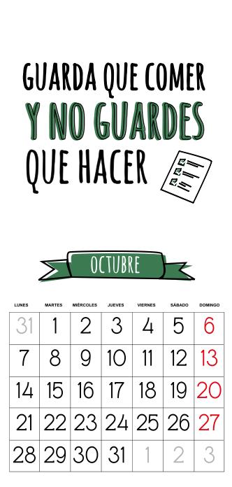 calendario 2013 gratis octubre